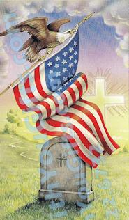 American Eagle Holy Card