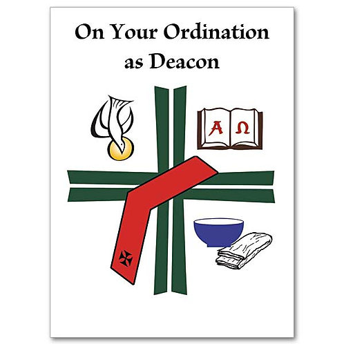 On Your Ordination as Deacon Card
