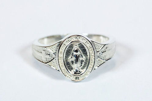 Miraculous Mary Ring Sterling Silver