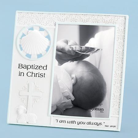 Baptism Boy Frame 4x6