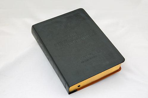 The Catholic Answer Bible, Black/Burgandy