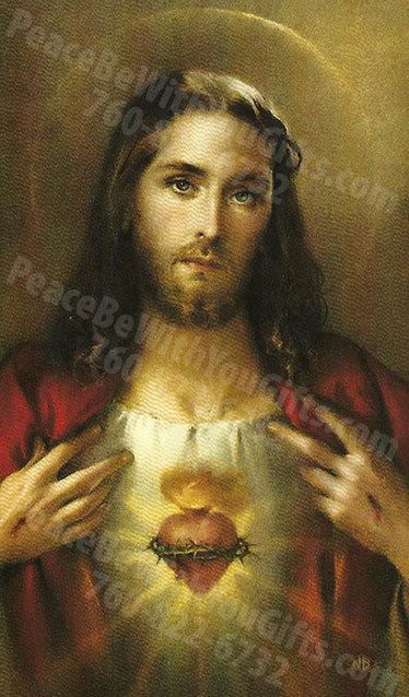Sacred Heart of Jesus Holy Card