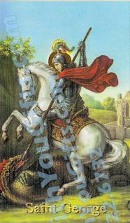 St. George Holy Card