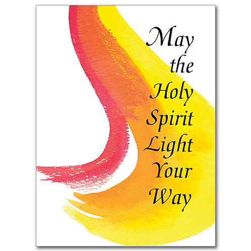 May the Holy Sppirit Light Your Way/Confirmation Card