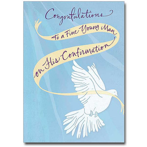 Congratulations to a Fine Young Man/Confirmation Card