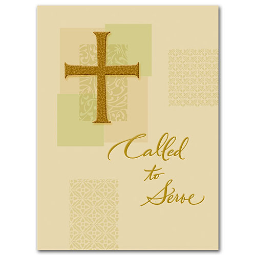 Called to Serve/Ordination Congratulations Card