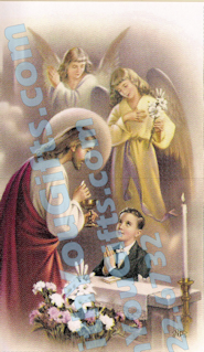 First Holy Communion Holy Card, Boy