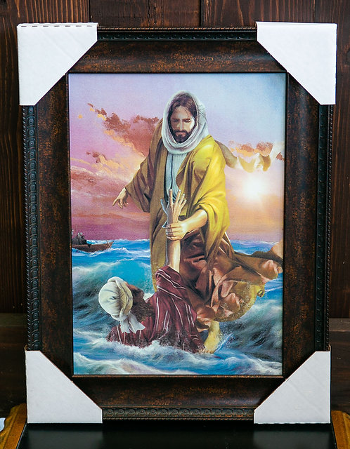 Jesus and Peter in the Sea, Framed