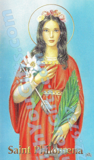 St. Philomena Holy Card