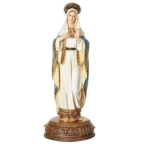 """Immaculate Heart of Mary Figure, 10"""""""