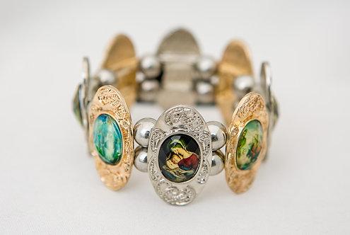 Mother of God, Mary Metal Bracelet