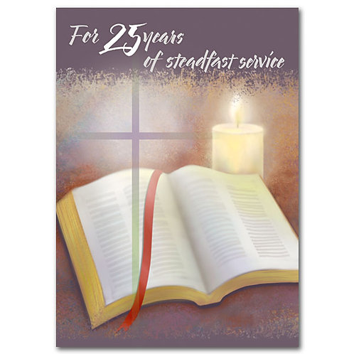For 25 Years of Steadfast Service/25th Ordination Anniversary Card