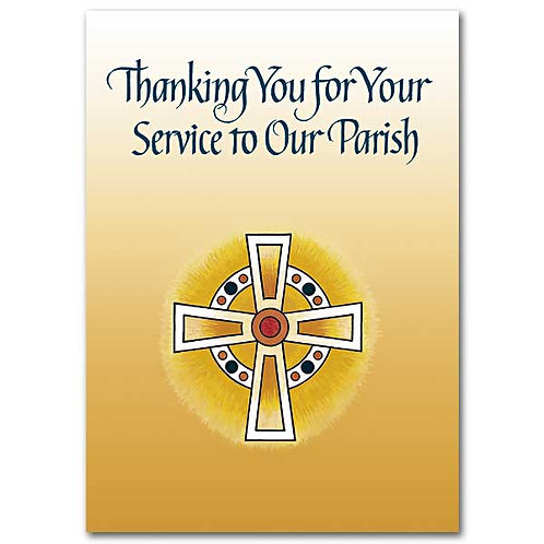 Thanking You for Your Service to Our Parish/Priest Appreciation Card