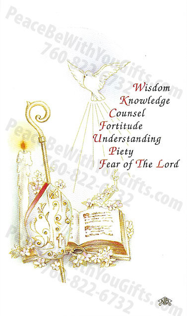 Confirmation Seven Gifts Holy Card