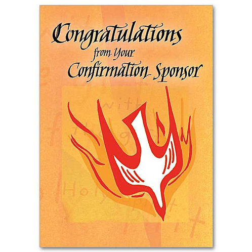 Congratulations from Your Confirmation Sponsor Card
