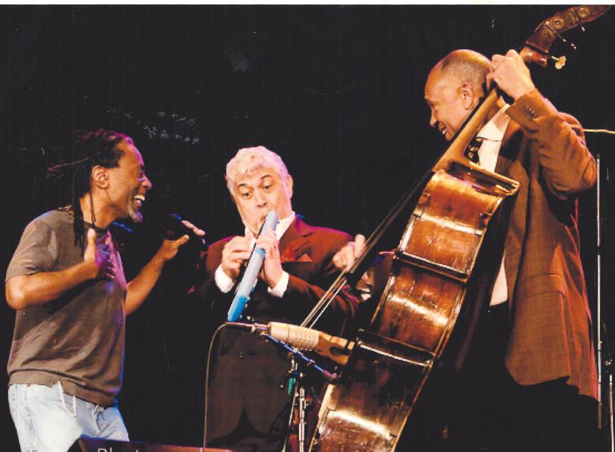 Monty, John Clayton and Bobby McFerrin: jam session