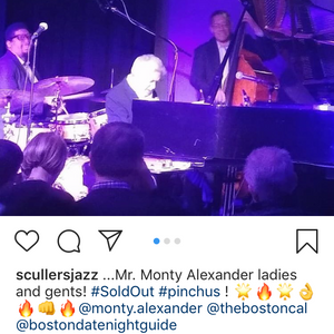 Monty started the year off right in Boston with a sold out show at Scullers...