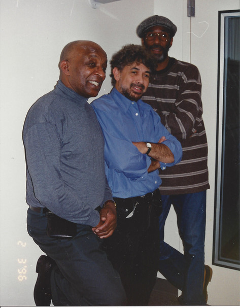 Monty candid shot during recording session with Ed Thigpen and Ron Carter
