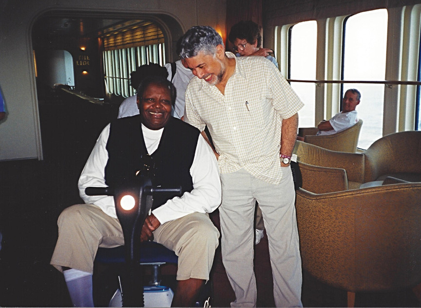 Monty Alexander and Oscar Peterson aboard the QE2 - 2002