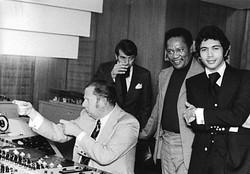 Monty Alexander Ernest Ranglin_in studio with Hans George Brunn