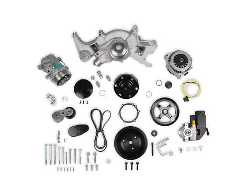 Big Block Chevy Mid-Mount Complete Accessory System- Natural Finish