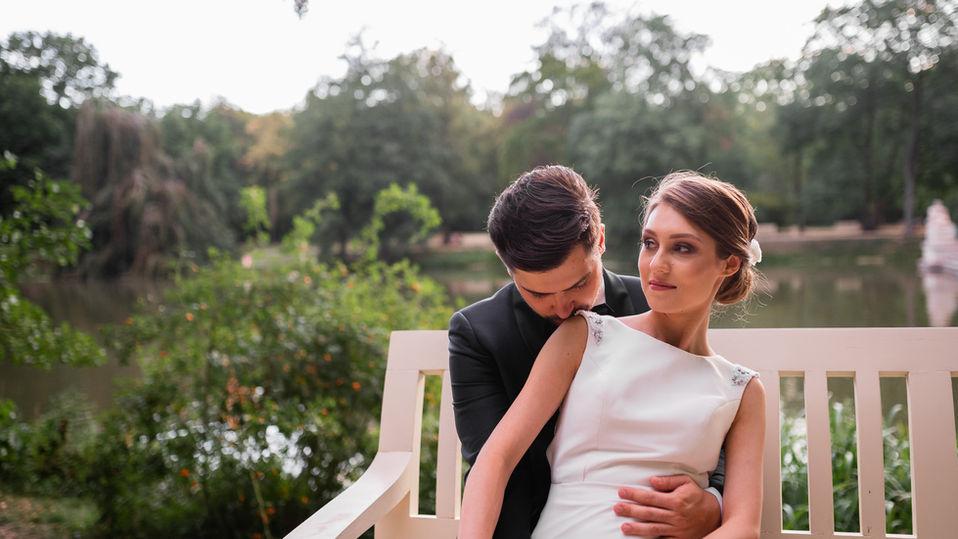 Sesja poślubna w Łazienkach Królewskich
