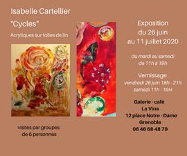 Expo Isabelle Cartellier pour la publica