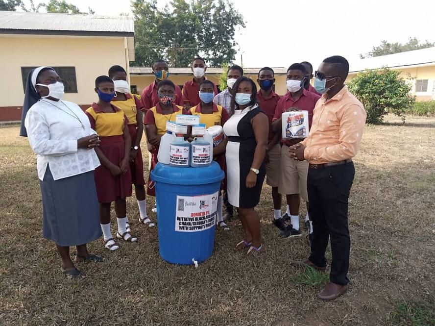 students of Sacred Heart SHS, Nsoatre, Sunyani, Ghana