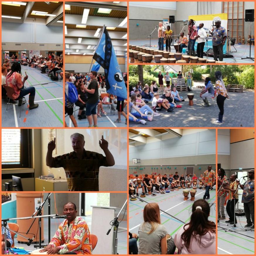 "Projekttag an der Westpfalzschule mit der"" Initative Black and White e.V."" am 23.08.2019"