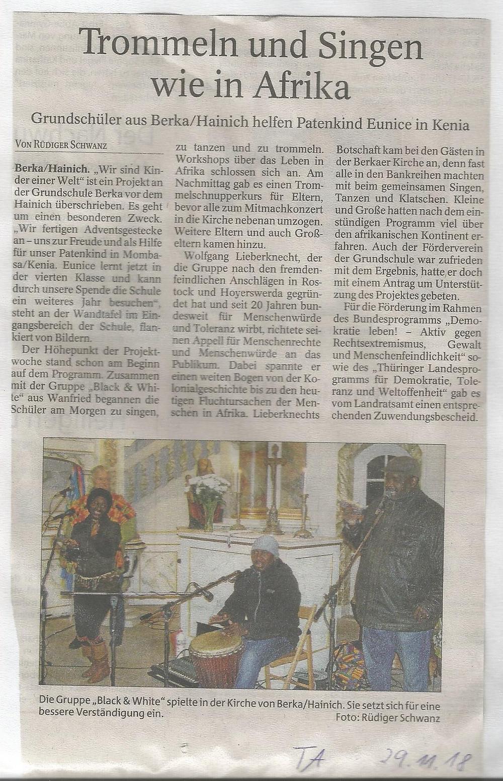 Afrikatag, Zeitung,20002