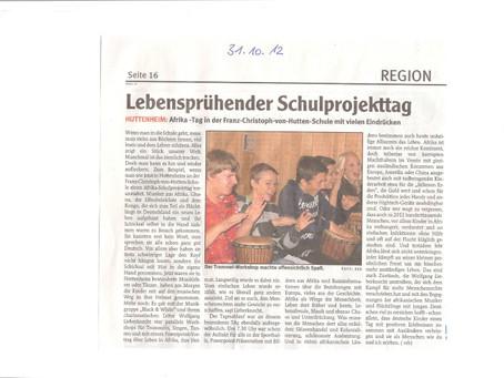 Lebenssprühener Projekttag an Grundschule und Werkrealschule in Huttenheim