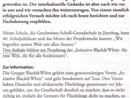 """Brandenburger Lehrerin empfiehlt interkulturellen Schulprojekttag: """"Wenn ihr an der Schule ein"""
