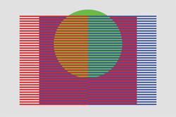 Spatial Mix - RGB, Green - 6x9