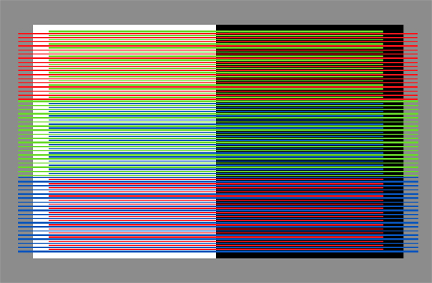 RGB on white and black - 20x30