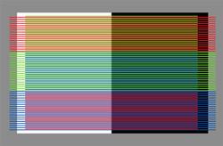 RGB on white and black - 20x30