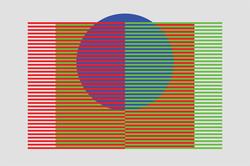 Spatial Mix - RGB, Blue - 6x9