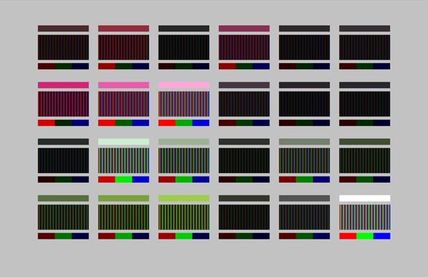 Peonies Palette in RGB - 24x36