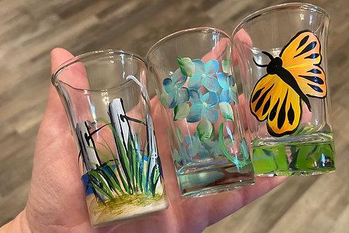 Hand Painted Shot Glasses