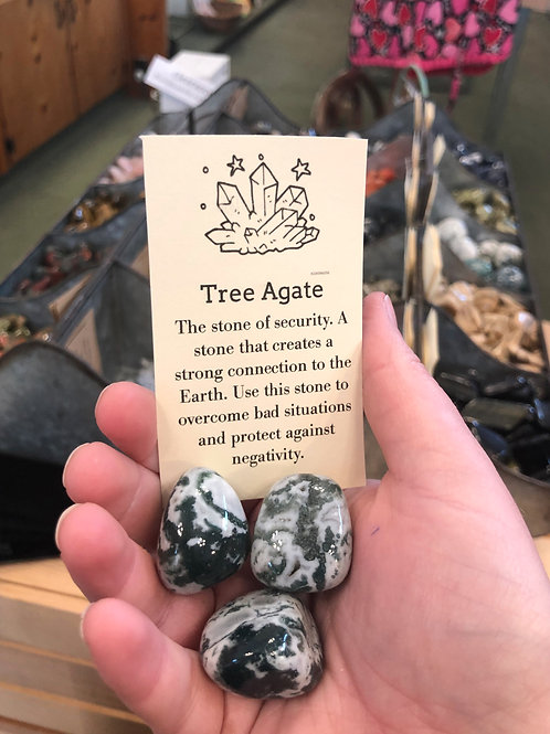Tree Agate Tumble Stone