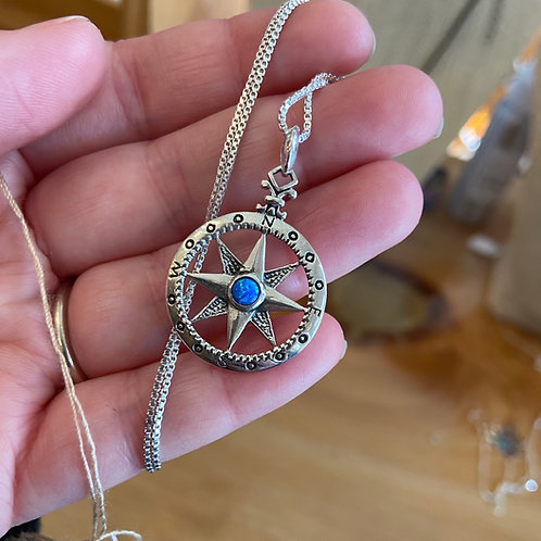 Compass With Opal
