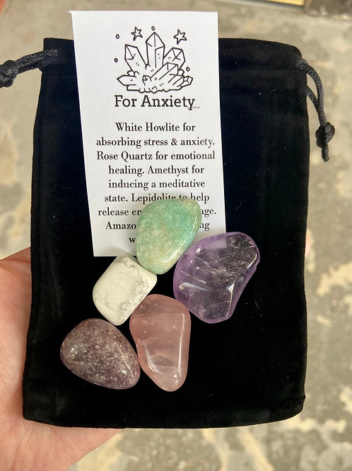 For Anxiety Crystal Set