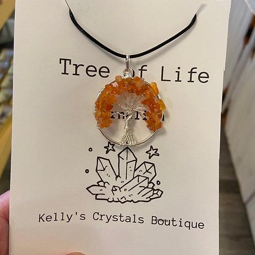 Carnelian Tree Of Life Necklace