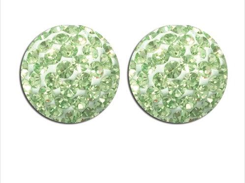 Green Crystal Studs