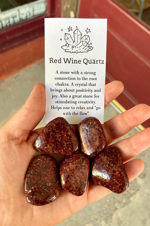 Red Wine Quartz Tumble Stone