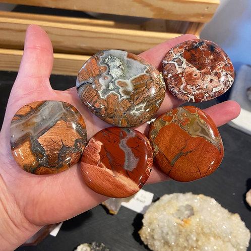 Red Jasper Mini Palm Stone