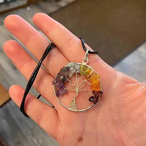 7 Chakra Tree of Life Necklace