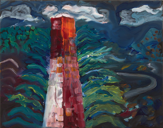 Tower, oil on canvas, 2020