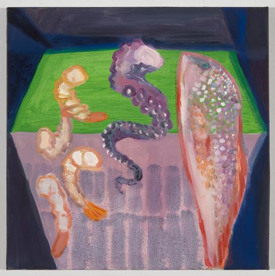 fish on warped canvas