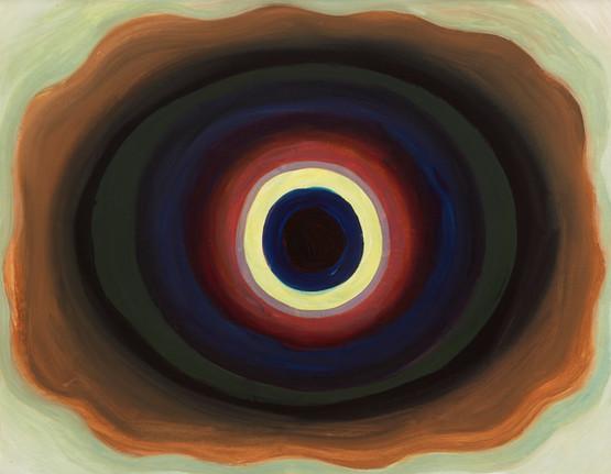 untitled (after Biren De), oil on panel, 2020