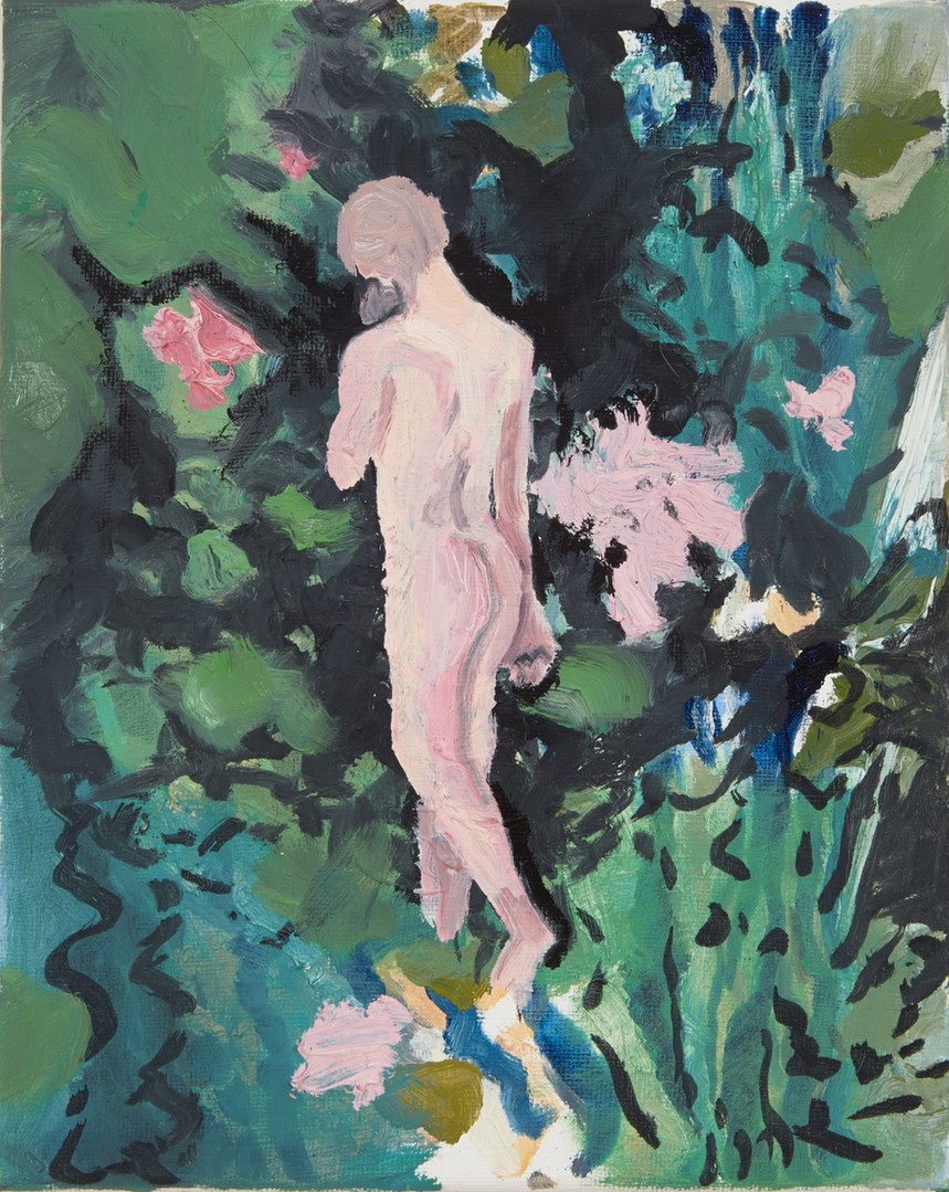 Entering the garden, oil on canvas, 2016